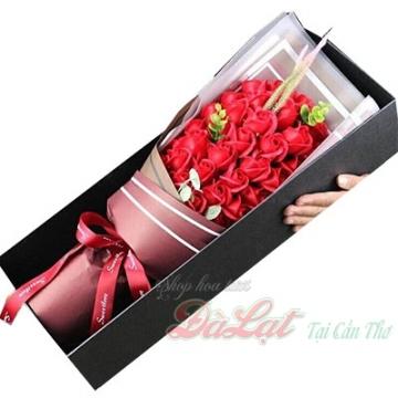 Hoa hồng sáp màu đỏ