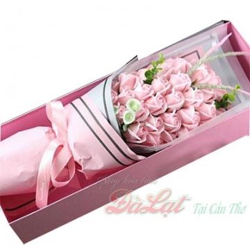 Hoa hồng sáp màu hồng