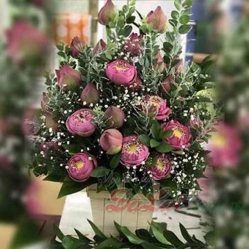 Giỏ hoa sen