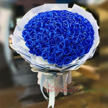 Hồng sáp xanh - tình yêu vĩnh cửu