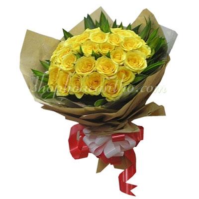 Hoa mừng sinh nhật - Hồng vàng