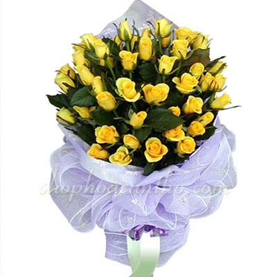 Hoa hồng vàng sinh nhật đáng nhớ