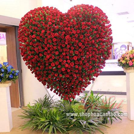 Trái tim 999 hoa hồng