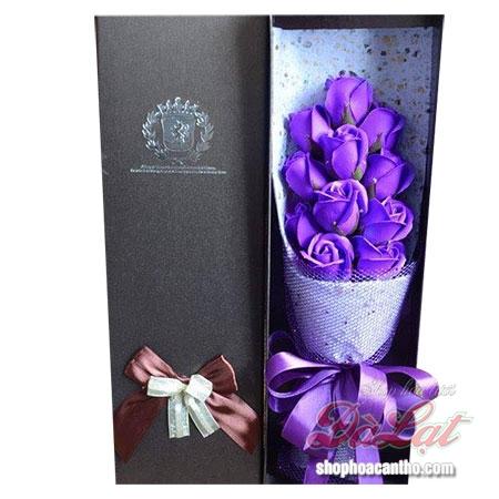 11 hoa hồng sáp Tím
