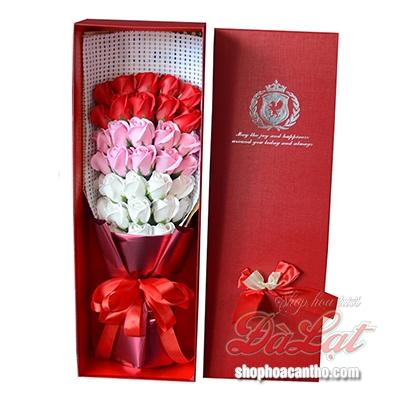 Hoa hồng sáp Đỏ yêu thương
